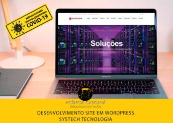 Desenvolvimento do site em Wordpress para a gigante empresa de TI Systech Tecnologia