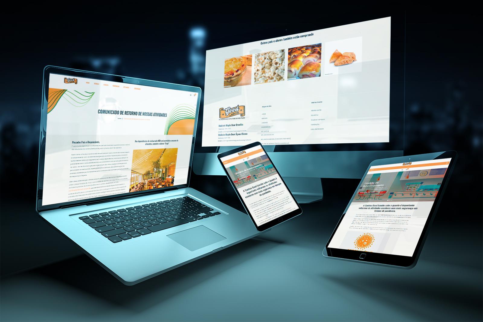 Criação de Loja virtual ou e-commerce para a Cantina Good Lanches da escola Maple Bear em Brasília