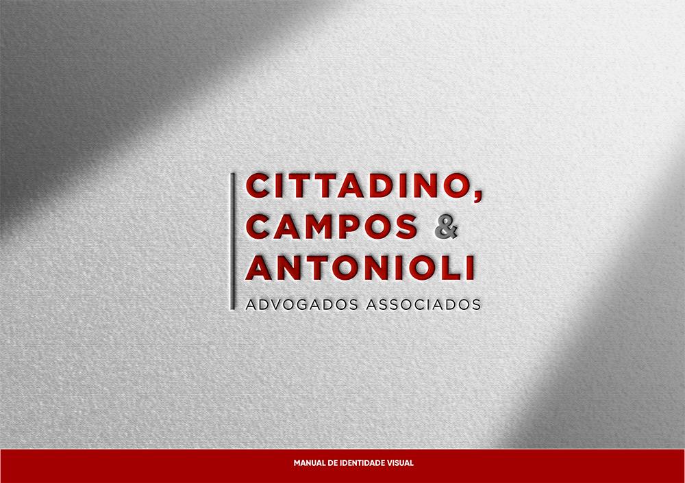 Logo e identidade visual Escritório de Advogados CCA